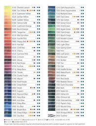 Derwent Procolour Lightfast Chart Derwent Inktense Colour Chart Pastel Pencils Colored