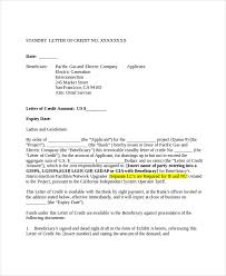 Credit reference letter from utility pany