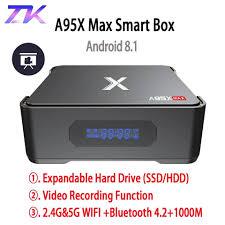 Ghi Hình Android TV Box A95X MAX X2 4GB 64GB Amlogic S905X2 2.4G & 5G Wifi  BT 4.2 1000M 4K HD Smart TV Box Set Top Box|Set-top Boxes