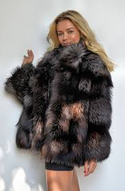 fur long silver fox coat whole cost t new arrival fashion
