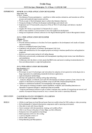 Java Web Developer Resume Sample Java Web Application Developer Resume Samples Velvet Jobs 32