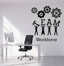 Image Contemporary Team Business Work Wall Sticker Vinyl Decals Teamwork Office Interior Decoration Creative Black Wall Art Decal For Office Zb034 Aliexpresscom Team Business Work Wall Sticker Vinyl Decals Teamwork Office