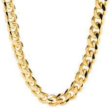 lifetime jewelry cuban link chain 9mm round 24k gold with inlaid bronze fa