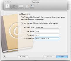 How To Manually Create A Carddav Account In Apple Address Book