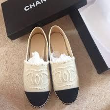 chanel uk. brand new chanel espadrilles size 39 (uk 6) but fit a 38 5). grab bargain! comes with original box. - depop uk