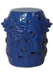 blue garden stool blue ceramic stools blue porcelain stool blue ceramic stool
