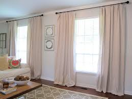 Diy Drop Cloth Curtains Curtains From Drop Cloths Live The Home Life