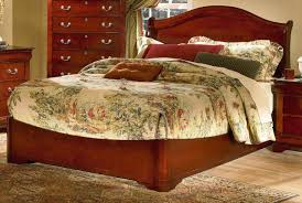 Martini Bedroom Suite Cherry Finish Classic Low Profile Bed W Arched Headboard