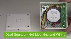 how to install an external sounder alarm wiring video Honeywell Ag6 Bell Box Wiring Diagram bosch d116 sounder (na) mounting and wiring Honeywell Actuator Wiring Diagrams