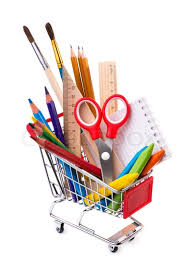 office drawing tools. School Or Office Supplies, Drawing Tools In A Shopping Cart | Stock Photo Colourbox