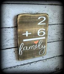 family number sign flashcard plaque custom wood decor math sign gallery wall on personalized wall art wood with family number sign flashcard plaque custom wood decor math sign