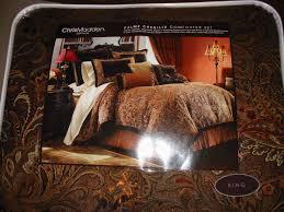 new chris madden palme chenille 4 piece king comforter set
