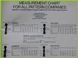 Bust Size Chart Women Black Tulip Half Size Patterns
