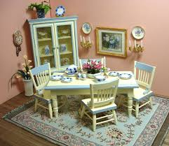 Amandas Decorated French Country Dining Room Dollhouse Miniature - French country dining room set