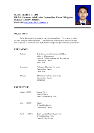 Resume Example Pinoy Resume Ixiplay Free Resume Samples
