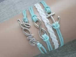 infinity love bracelet. infinity bracelet anchor \u0026 love nautical by corallinesea