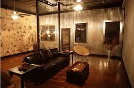 corrugated metal accent walls