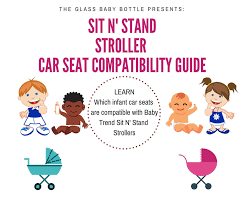 Car Seat Stroller Compatibility Chart Car Seats That Are Compatible With Baby Trend Sit N Stand