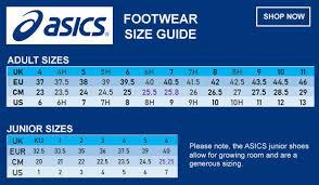 Asics Women S Socks Size Chart 24 Accurate Asics Kids Shoe Size Chart