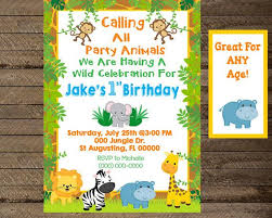 Jungle Theme Birthday Invitations Jungle Invite Jungle Invitation Jungle Birthday Party First Birthday Party 1st Bday Invite Jungle Theme Party Second Third Birthday