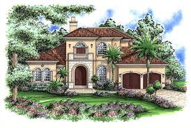 Mediterranean Designs  Florida Style Home Plans  House Plans         middot  This image shows the Mediterranean style for this set of house plans