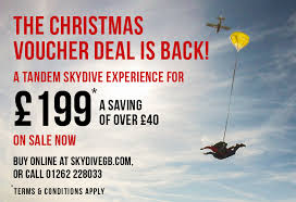 Christmas Gift Vouchers Are Back Skydive Gb
