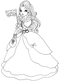 Small Picture Ever After High Coloring Pages To Download And Print For Free