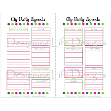 planner page template blank daily planner pages download them or print