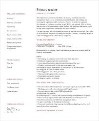 Example Resumes For Teachers Teacher Resume Sample 32 Free Word Pdf Documents Download Free