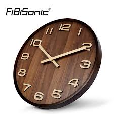 large office wall clocks. Wonderful Clocks Wholesale Large Size Big 14 Inch Wood Wooden Wall Clocks For Home Office  Decor Simple Design Watch Clock No Glass Rooster Round From  Intended A