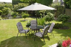 quality black grey padded 4 seater 6 piece metal garden dining set table 4 chairs