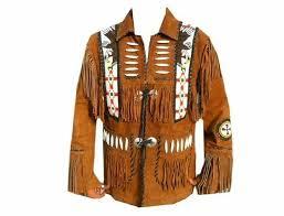 men s brown western leather jackets suede leather fringe eagle bede bones m r