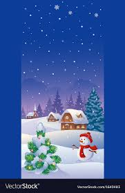 Christmas Vertical Banner Royalty Free Vector Image
