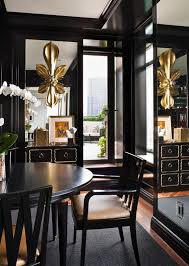 living room design glamorous high gloss black millwork and mirror in pimp pool rapper drakes new pad in cali detli home