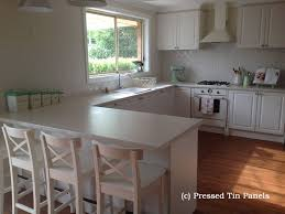 pressed metal furniture. Original Kitchen Splash Back- Shoji White Pressed Metal Furniture