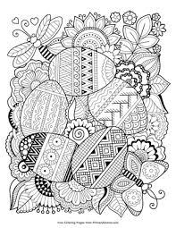 Zentangle Easter Eggs Coloring Page Printable Easter Coloring