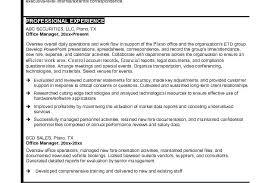 Sample Resume Of Office Administrator Office Manager Job Description