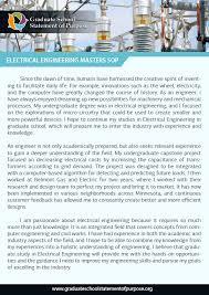 Statement Of Purpose Graduate School Example Stellar Statement Of Purpose Electrical Engineering Sample