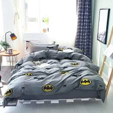 bedroom duvet cover sets batman set cotton grey solid color bed sheets cartoon pillow case