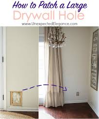 have a large hole in your wall get step by step directions for how