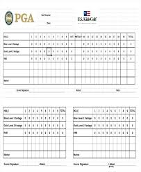Golf Score Card Template Golf Tournament Scorecard Template Excel Golf Scoreboard Template