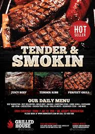 Barbecue Flyers Barbecue And Grill House Flyer