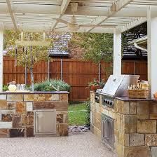 Outdoor Kitchens In The Landscape Better Homes Gardens Stunning Wood Stove Backsplash Exterior