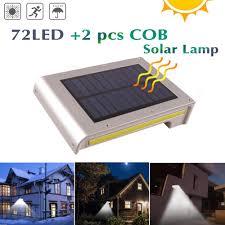 300lm Zonne Verlichting Motion Sensor Voor Tuin Decoratie Waterdichte Cob 72 Led Solar Lamp Outdoor Verlichting Emergency Muur Lampion