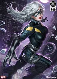black cat marvel. Delighful Cat Marvel Black Cat Art Print By Sideshow Collectibles  To L