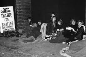 waiting in line concert. Wonderful Waiting Some British Fans Que In Line To Wait Purchase Their Beatles Concert  Tickets Notice How Someone Had Brought Along A Guitar Looks Like Fun Time Me Throughout Waiting In Line Concert K