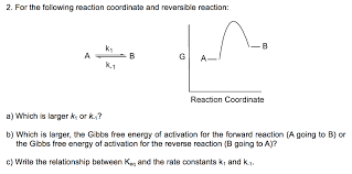 inorganic chemistry help i am studying for the fi com 2 for the following reaction coordinate and rever