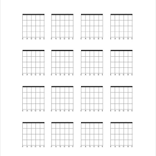 Blank Guitar Chord Chart Template 5 Free Pdf Documents