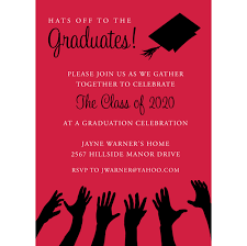 Senior Party Invitations Hats Off To The Graduation Red Black Graduation Invitations By Noteworthy Collections Invitation Box