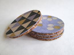 Painted Leather Coasters by Confessions of a Secret Crafter | One of a HUGE  collection of